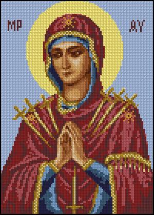 Икона семистрельная схем вышивки крестом