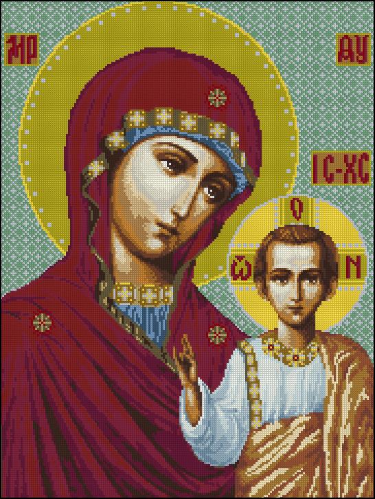 Икона Казанской Божьей матери 62