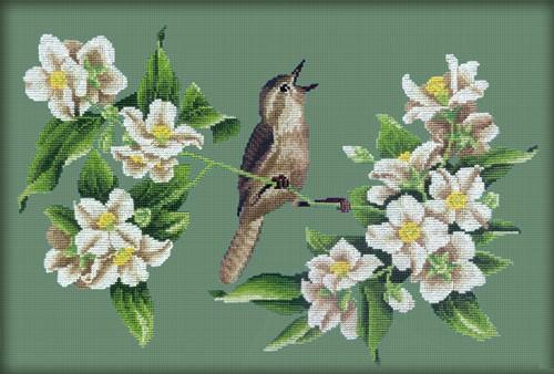 Схема вышивки крестом цветы жасмина